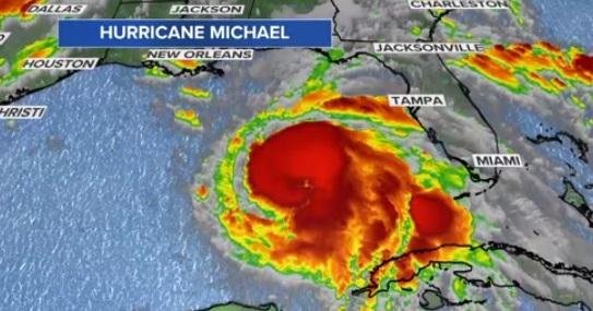 Cơn bão Michael hướng thẳng đến khu vực Gulf Coast, tiểu bang Florida
