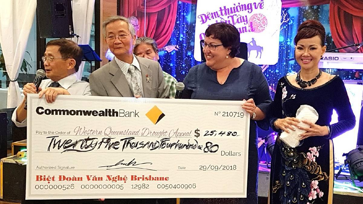 Cộng đồng Việt Brisbane gây quỹ 25,000 Úc kim giúp nạn nhân hạn hán