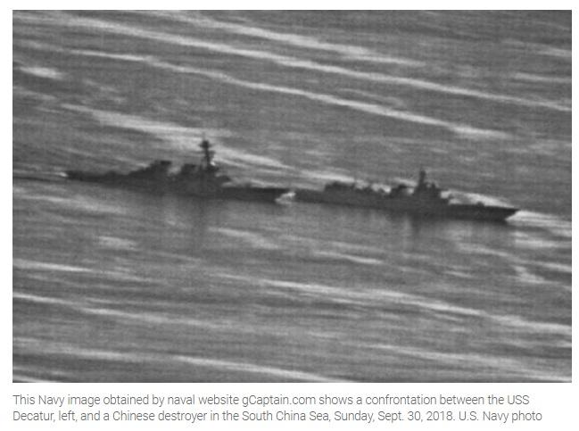 Những hình ảnh cho thấy chiến hạm Trung Cộng áp sát nguy hiểm USS Decatur