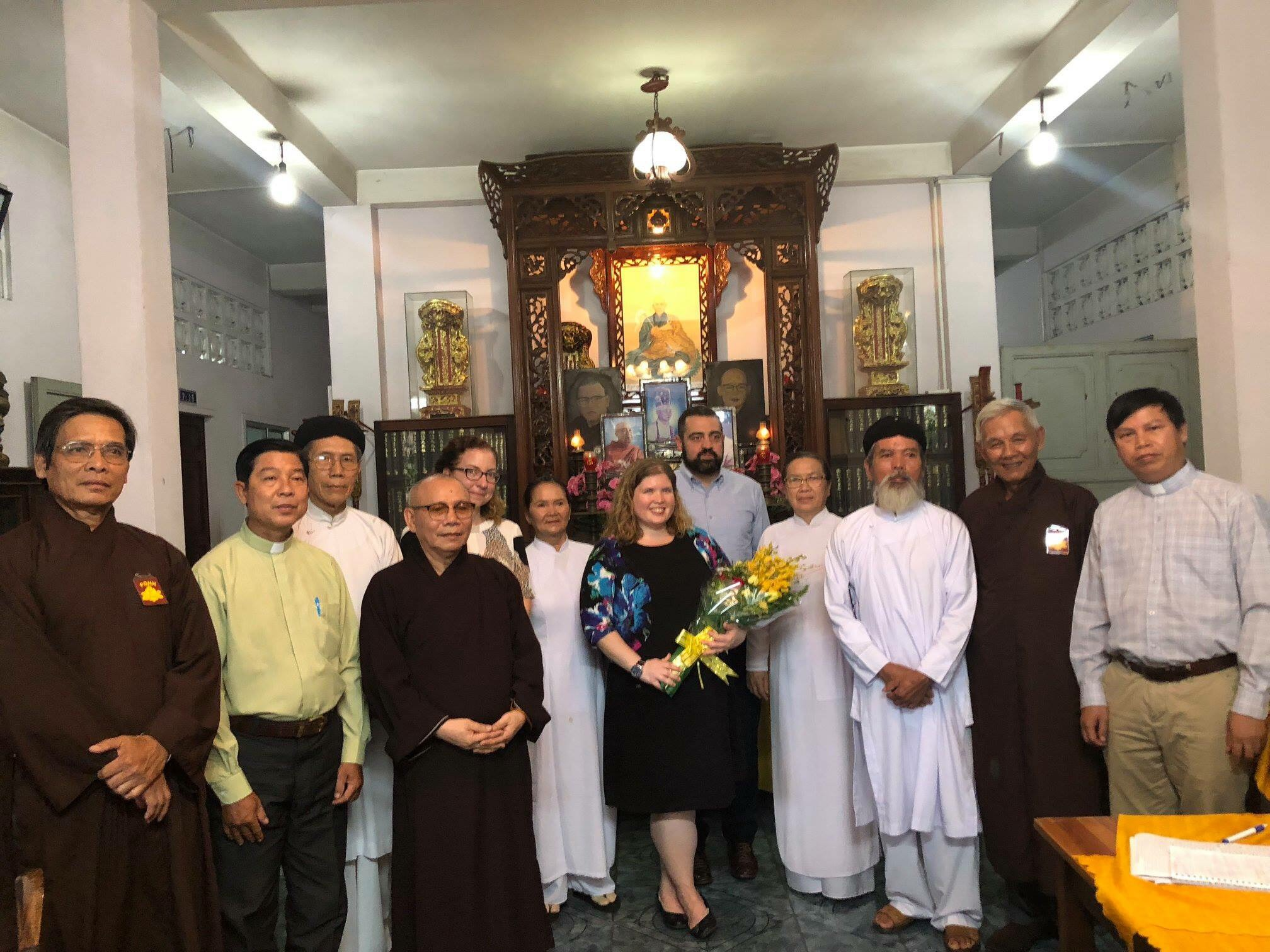 Hội đồng Liên Tôn Việt Nam gặp phái đoàn tự do tôn giáo quốc tế Hoa Kỳ