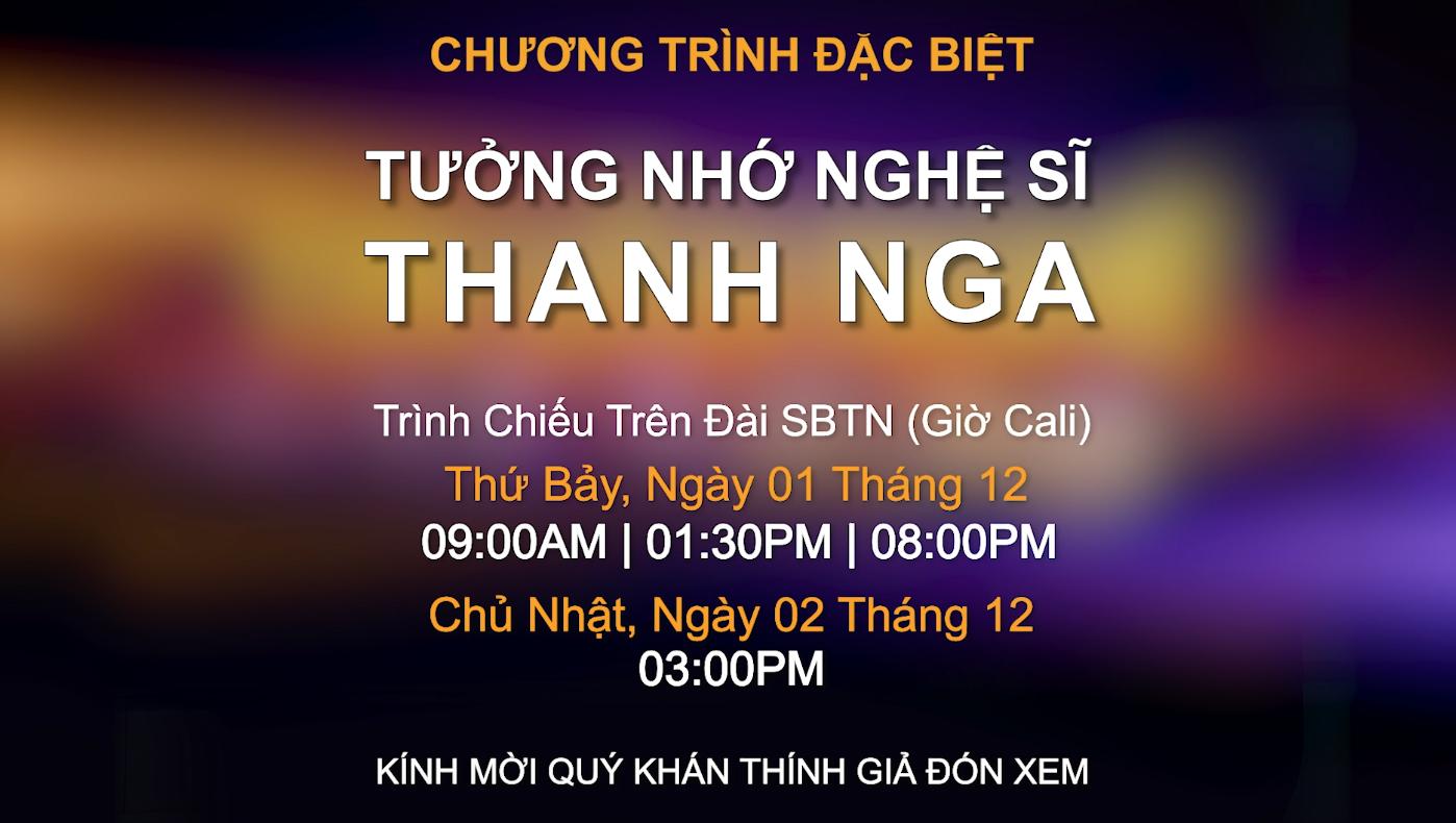 Phim tài liệu Tưởng Nhớ Nghệ Sĩ Thanh Nga Trên Đài Truyền Hình SBTN & SET