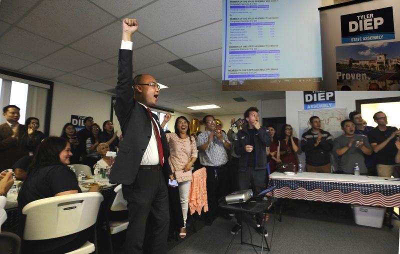 Ông Tyler Diệp trở thành người gốc Việt thứ hai đắc cử dân biểu tiểu bang California