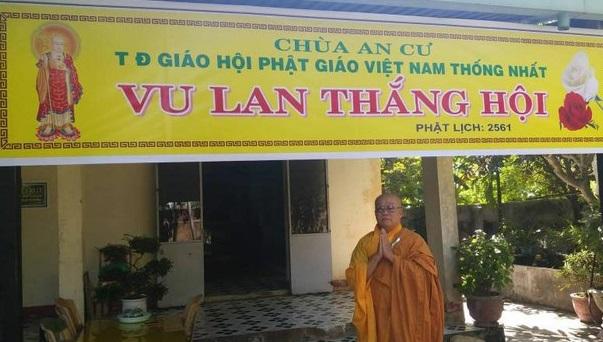 Chính quyền Đà Nẵng sắp cưỡng chế chùa An Cư thuộc Giáo hội Phật giáo Việt Nam Thống nhất