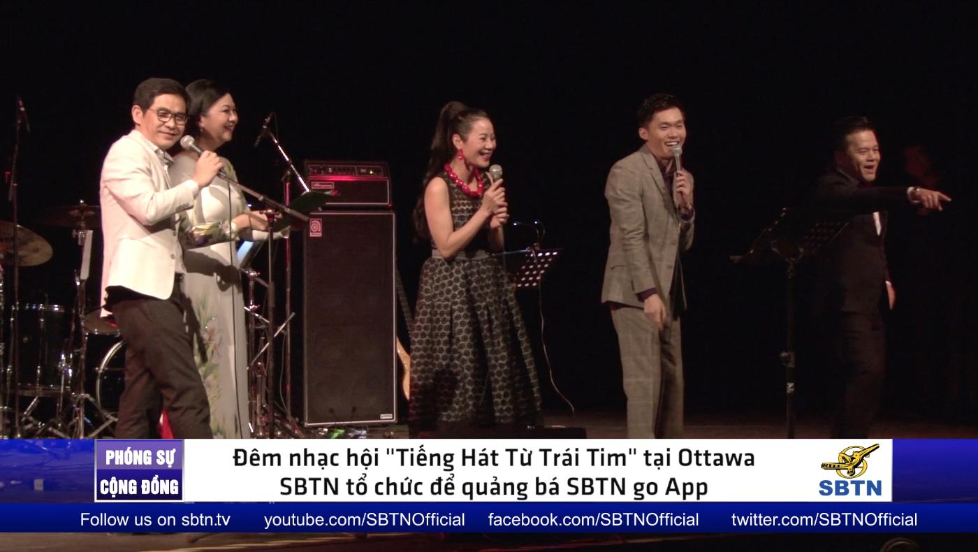 """Đêm nhạc """"Tiếng Hát Từ Trái Tim"""" quảng bá SBTN go tại Ottawa, Canada"""