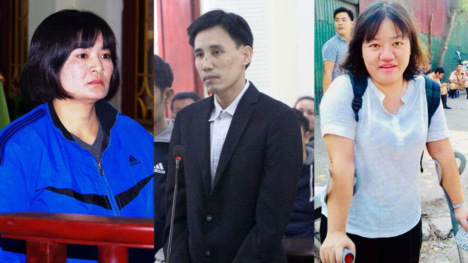 Giải Nhân quyền Việt Nam 2018 cho Hoàng Đức Bình, Trần Thị Nga, Phạm Đoan Trang