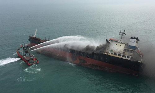Chưa tìm thấy 2 thuỷ thủ tàu chở dầu của Việt Nam bị mất tích tại vùng biển Hong Kong