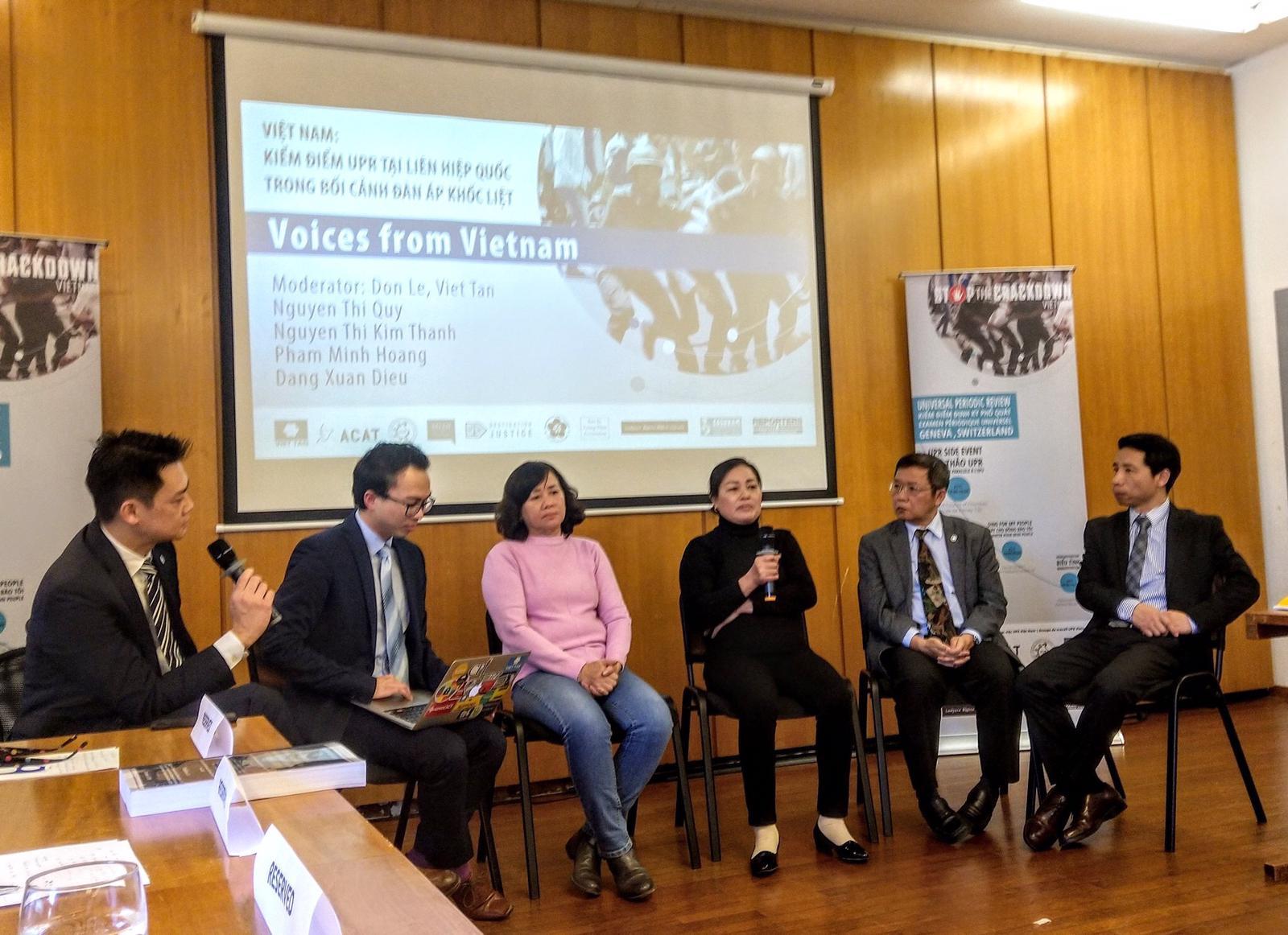 Hội thảo UPR tại Liên Hiệp Quốc trong bối cảnh Việt Nam đàn áp nhân quyền khốc liệt