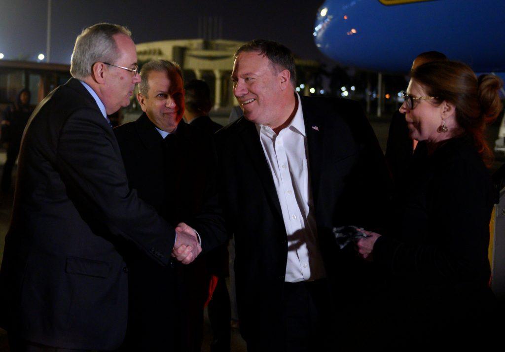 Ngoại trưởng Hoa Kỳ Mike Pompeo đến Ai Cập để đàm phán với các đồng minh Trung Đông