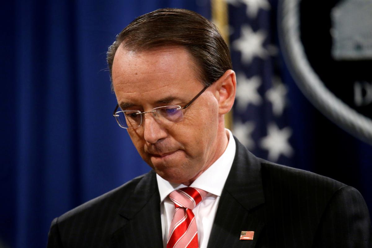 Thứ trưởng Bộ Tư pháp Rod Rosenstein sẽ rời khỏi Bộ Tư pháp trong vài tuần tới