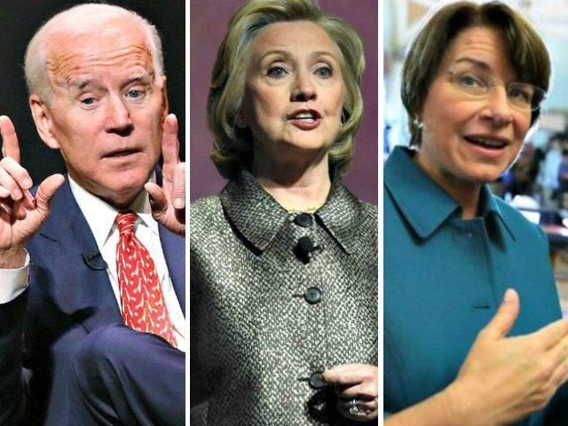 Bà Hillary Clinton gặp cựu Phó Tổng thống Joe Biden và TNS Amy Klobuchar