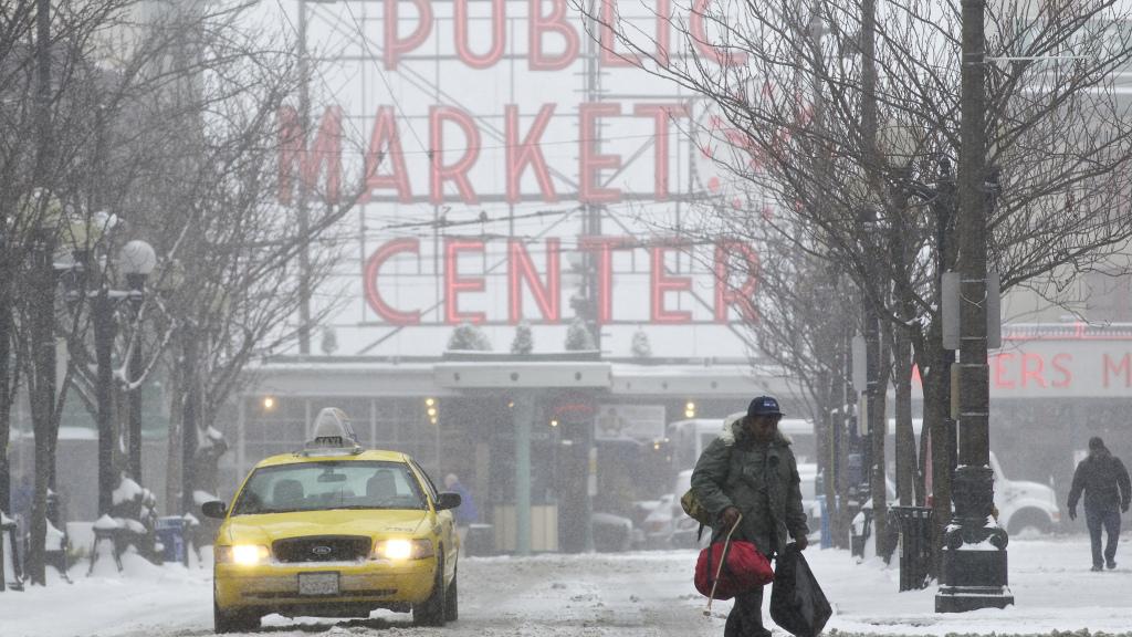 Thành phố Seattle có lượng tuyết rơi kỷ lục trong 70 Năm