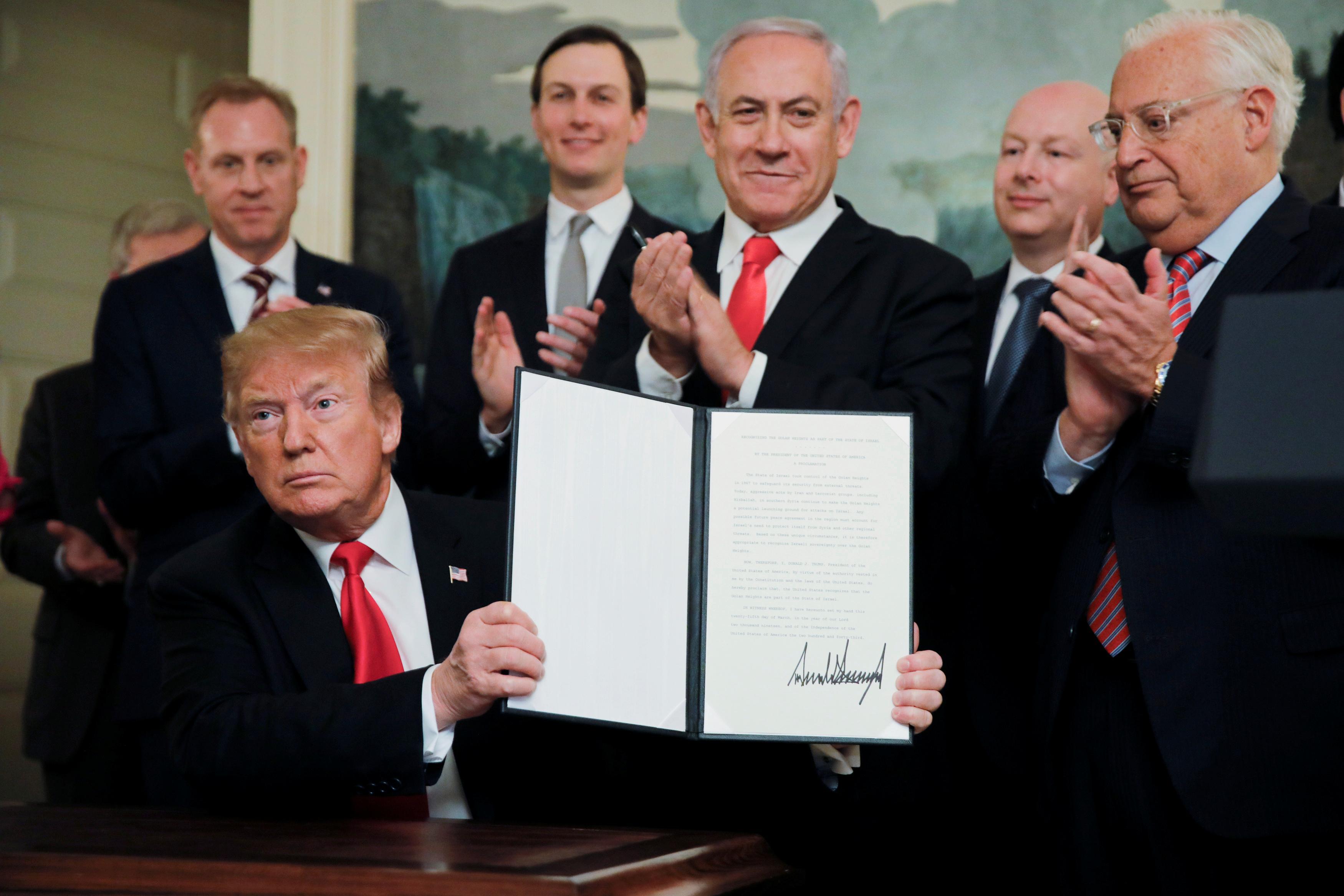 Tổng thống Donald Trump công nhận Cao nguyên Golan là của Israel