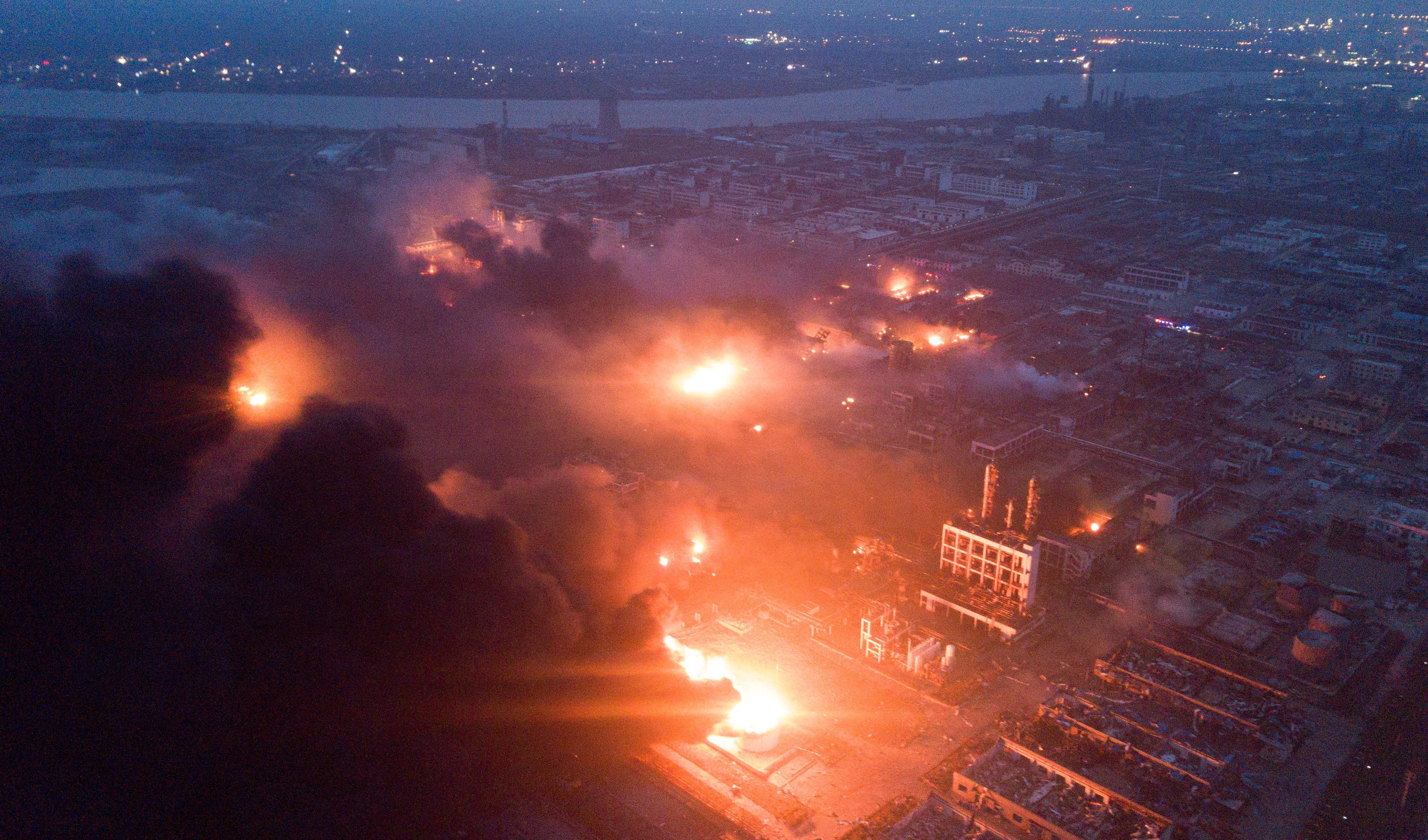 62 người thiệt mạng trong một vụ nổ nhà máy hóa chất ở Trung Cộng