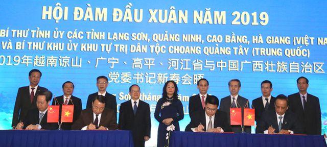 4 tỉnh biên giới phía bắc Việt Nam ký 7 thỏa thuận hợp tác với Trung Cộng