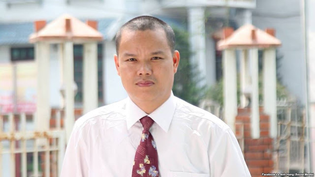 Blogger Lê Anh Hùng bị kỷ luật trong trại tạm giam