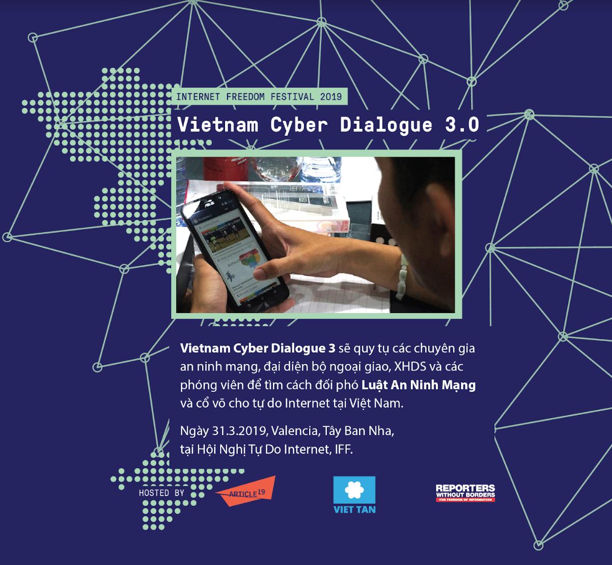 Hội nghị VIETNAM CYBER DIALOGUE 3: đối phó với luật an ninh mạng