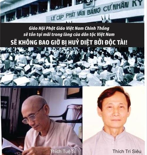 Phật Giáo Việt Nam chính thống sẽ trường tồn mãi mãi trong lòng dân tộc! (FB Việt Tân)