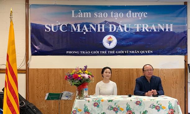 Buổi tâm tình của luật sư Trần Kiều Ngọc và nhạc sĩ MC Nam Lộc tại Virginia (Đỗ Hiếu)