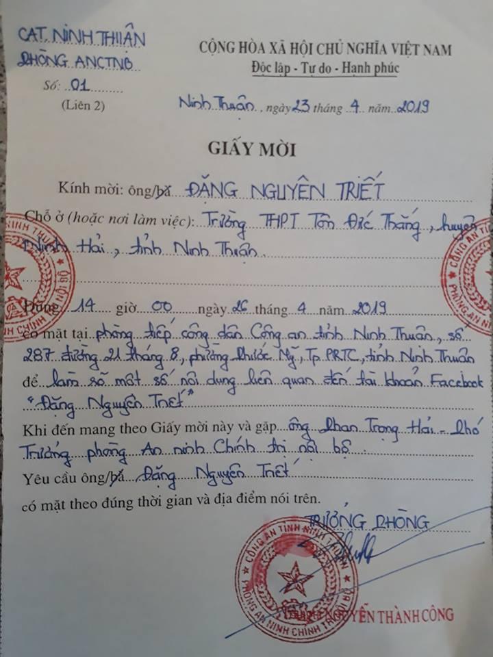 Thầy giáo vận động  học sinh nhặt rác bị công an mời làm việc