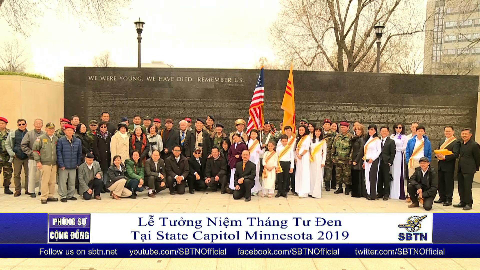 Tưởng niệm tháng Tư đen tại State Capitol Minnesota 2019