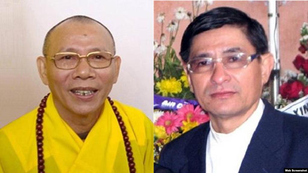 Hoà Thượng Thích Không Tánh và Mục Sư Nguyễn Hồng Quang đoạt đoạt Giải Tự Do Tôn Giáo 2019