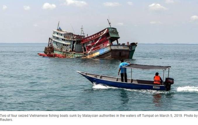 Malaysia bắt 33 ngư dân Việt Nam câu cá bằng điện