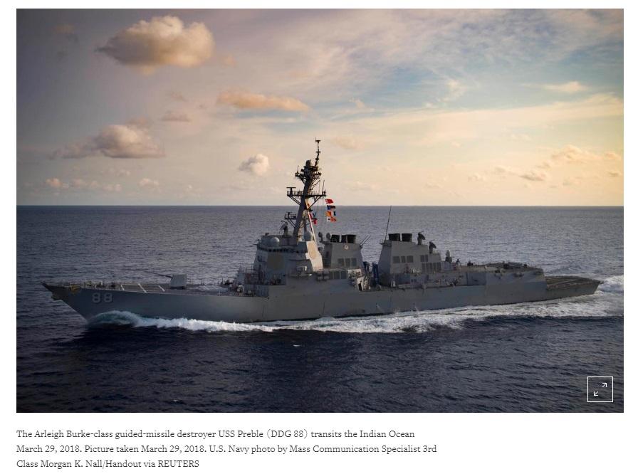 Hải Quân Hoa Kỳ điều hai tàu qua eo biển Đài Loan