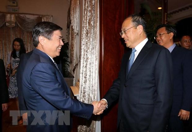 Ông Nguyễn Thanh Phong muốn cùng Trung Cộng đẩy mạnh hợp tác xây dựng Sài Gòn thành thành phố thông minh