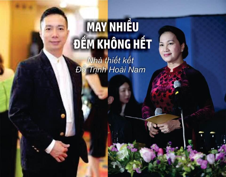 Bà Nguyễn Thị Kim Ngân dùng chỉ vàng 24k để may áo dài?