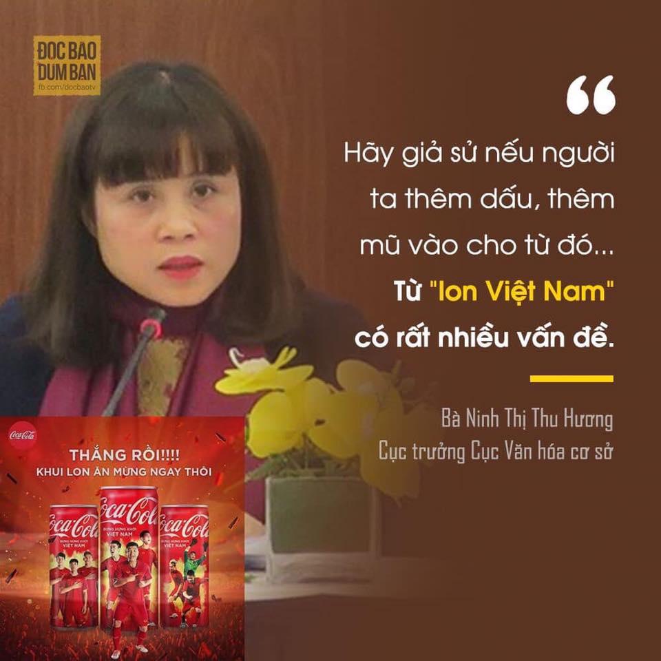 """Cocacola bỏ """"Mở Lon Việt Nam"""" vì ngành văn hoá sợ bị thêm """"mũ và dấu"""""""