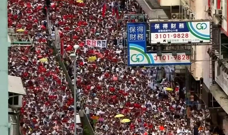 Gần một triệu người biểu tình tại Hong Kong phản đối dự luật dẫn độ Trung Cộng