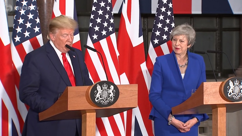 """Tổng thống Trump hứa hẹn với Anh một thỏa thuận thương mại """"phi thường"""" hậu Brexit"""