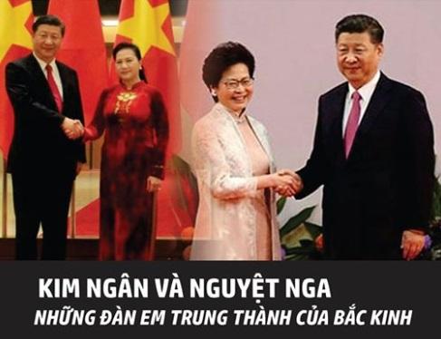 Nguyệt Nga & Kim Ngân – những đàn em trung thành của Bắc Kinh? (Việt Tân)