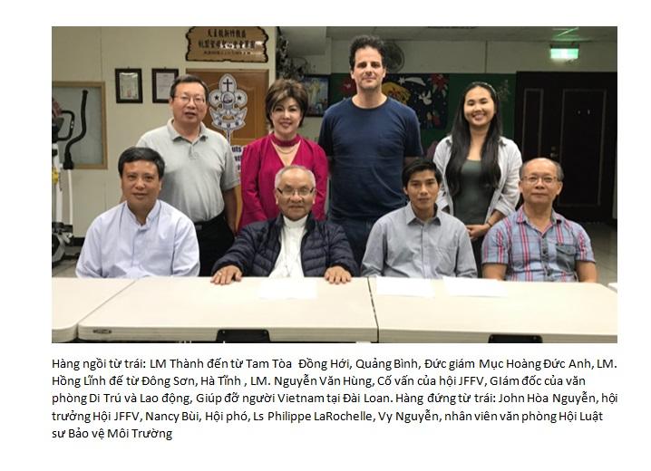 Thông cáo Báo chí  của Hội Công Lý Cho Nạn Nhân Formosa (JfFV)