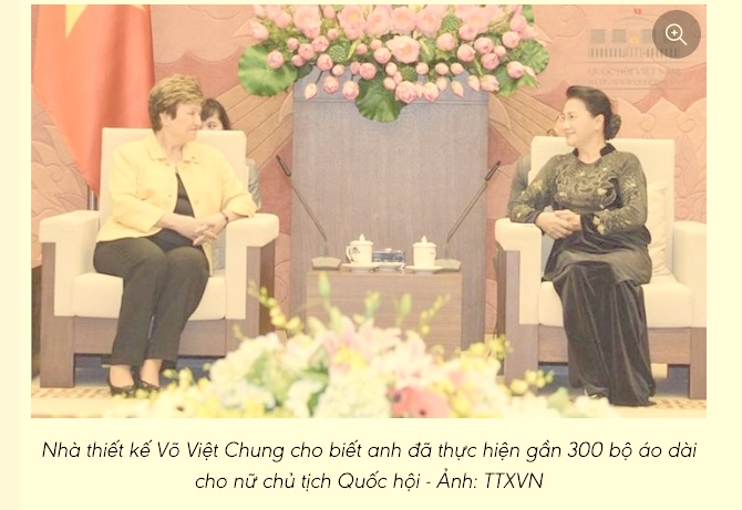 Bà Nguyễn Thị Kim Ngân có trên 300 bộ áo dài không dưới 100 triệu một bộ?