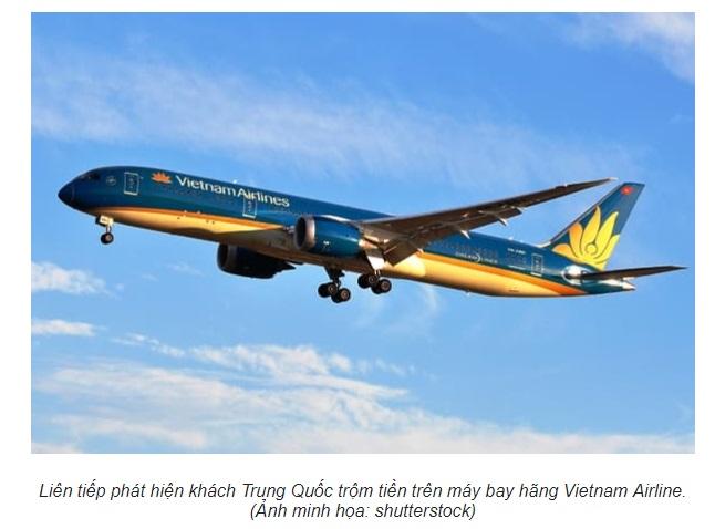 Hành khách Trung Cộng liên tục trộm cắp trên phi cơ Việt Nam