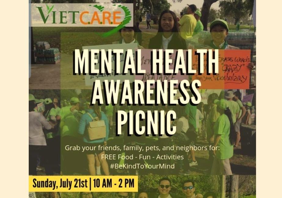 Viet-CARE mời tham gia picnic sức khỏe tâm lý miễn phí Chủ Nhật 21/07/2019