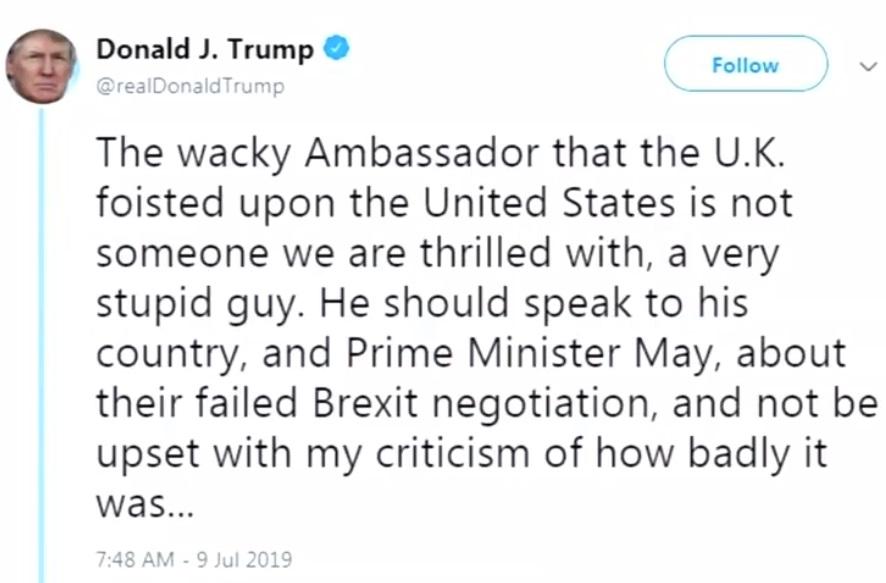 Đại sứ Darroch: chính quyền Trump hủy thỏa thuận nguyên tử Iran chỉ vì ông Obama đã ký