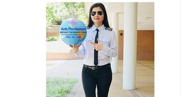 Nữ phi công người Mỹ gốc Việt đặt mục tiêu bay vòng quanh thế giới một mình