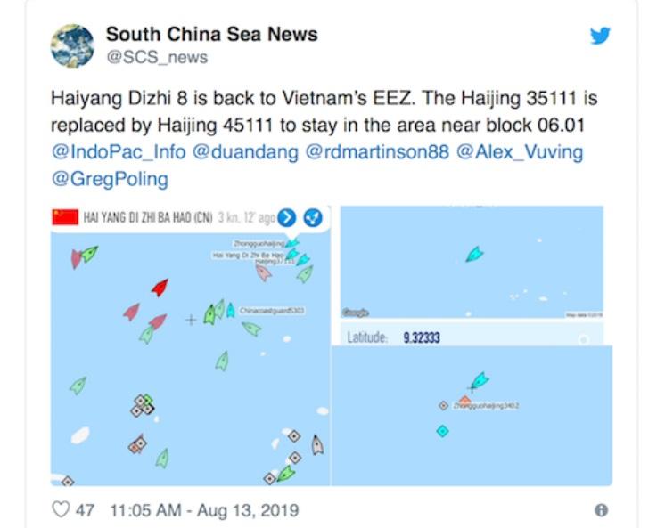 Hiệp Hai ở Bãi Tư Chính bắt đầu: Tàu Hải Dương 8 quay trở lại (Phương Thảo)