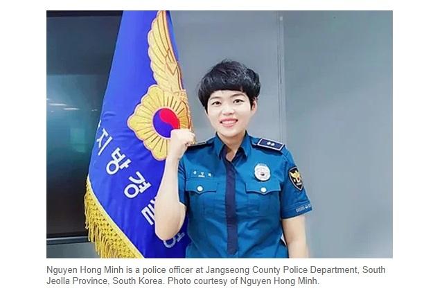 Phụ nữ Việt trở thành cảnh sát giúp đỡ cộng đồng người Việt ở Nam Hàn