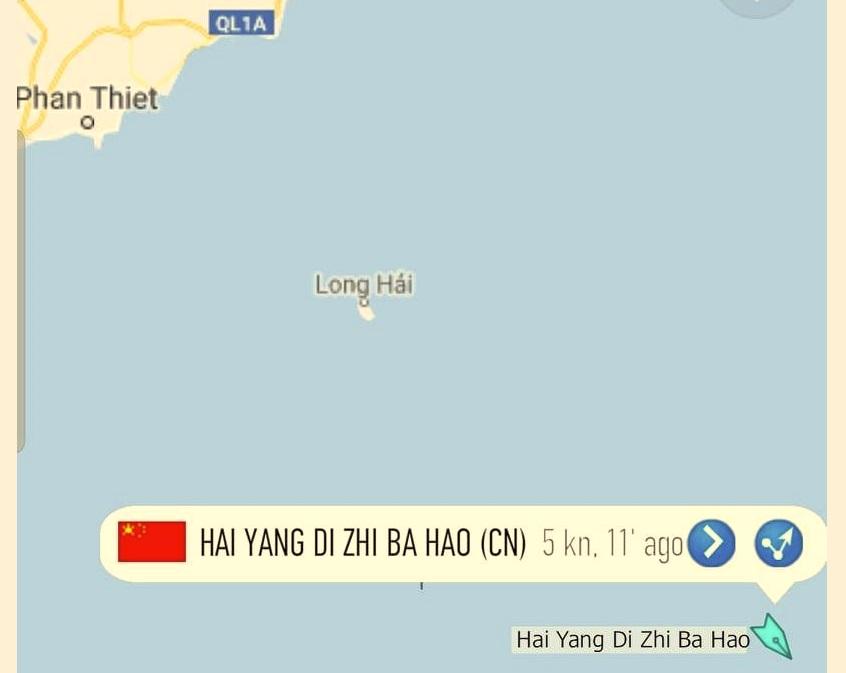 Trung Cộng đưa tàu Hải Dương tiến gần hơn vào bờ biển Việt Nam