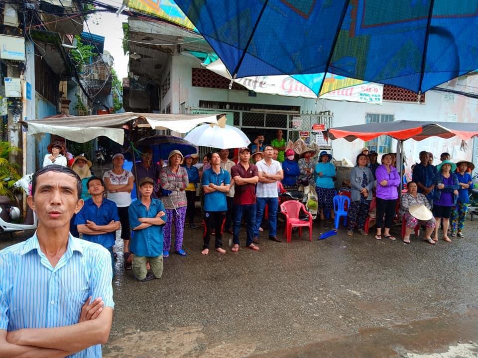 An ninh phá rạp tổ chức tang lễ của dân oan vườn rau Lộc Hưng