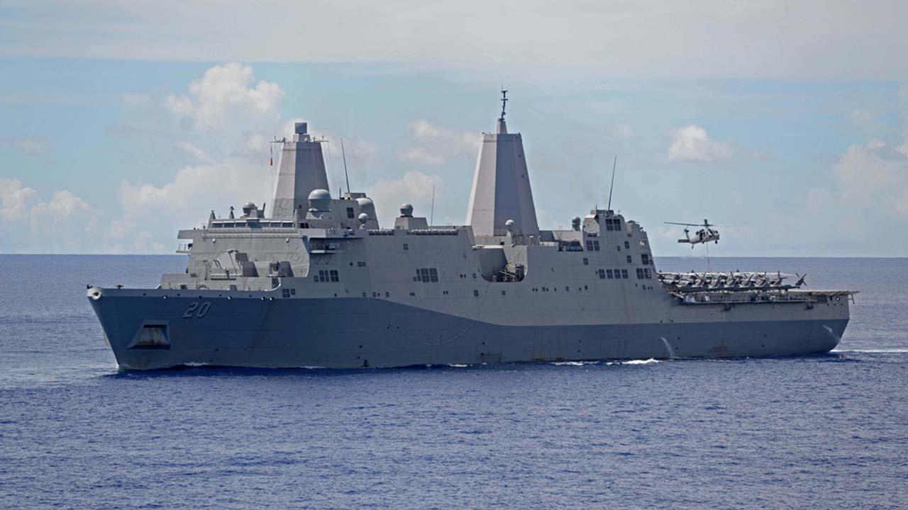 Chiến hạm Hoa Kỳ đi qua eo biển Đài Loan