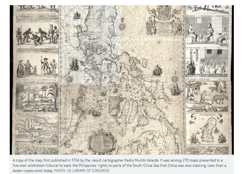 Bản đồ trong vụ Phi Luật Tân kiện Trung Cộng được bán đấu giá 770,000 USD