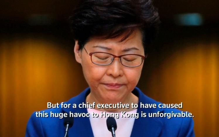 """Đặc khu trưởng Hồng Kông cho biết sẽ """"từ chức"""" nếu có thể"""