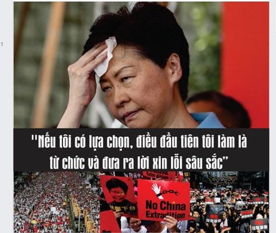Carrie Lâm muốn từ chức nhưng không thể – bài học xương máu của Đặc Khu Trưởng Hong Kong (LA)