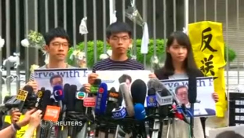 Joshua Wong tìm sự ủng hộ của Hoa Kỳ cho các cuộc biểu tình dân chủ