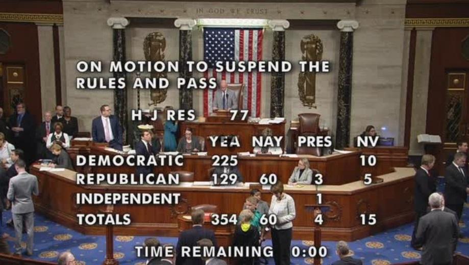Hạ Viện bỏ phiếu áp đảo 354/60 phản đối quyết định rút quân đội Hoa Kỳ khỏi Syria