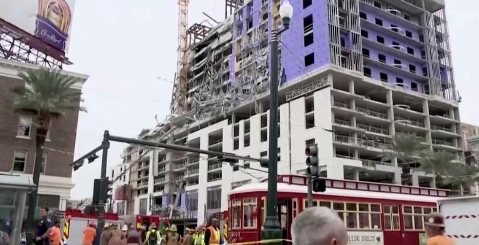 Khách sạn Hard Rock ở New Orleans sụp đổ – ít nhất 2 người chết, 20 người bị thương